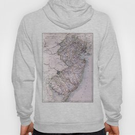 Vintage Map of New Jersey (1884) Hoody