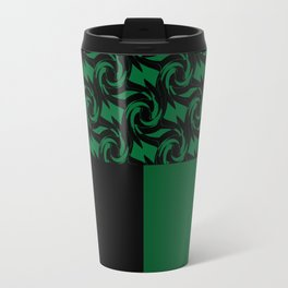 Abstract combo black and green decor Travel Mug
