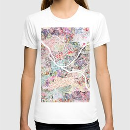 Pittsburgh map - Landscape T-shirt