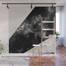 Expanding Universe - Abstract, black and white space themed design Wall Mural