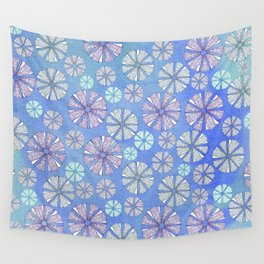sea urchin blue watercolor Wall Tapestry
