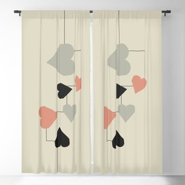 heart map Blackout Curtain
