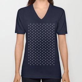 Crown Pattern Unisex V-Neck