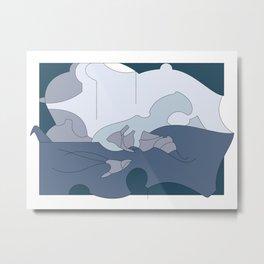 Sea Life and a Cello Metal Print
