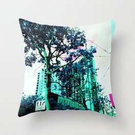 a bright new world Throw Pillow