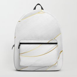 Sea Shell White with Gold Accents Backpack