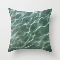pool Throw Pillows featuring Pool by Marta Bocos