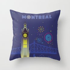 Montreal - Clock Tower Throw Pillow