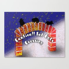 Fat Cats On the Archway Canvas Print