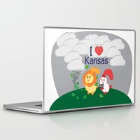coraline Laptop & iPad Skins featuring Ernest and Coraline | I love Kansas by Hisame Artwork