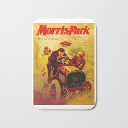 Morris Park Auto Race, vintage poster, race poster Bath Mat