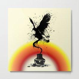 Ink Eagle  II Metal Print