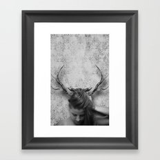 Oh Deer, Me Framed Art Print