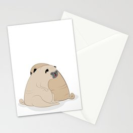 Sleeping Pugs Stationery Cards