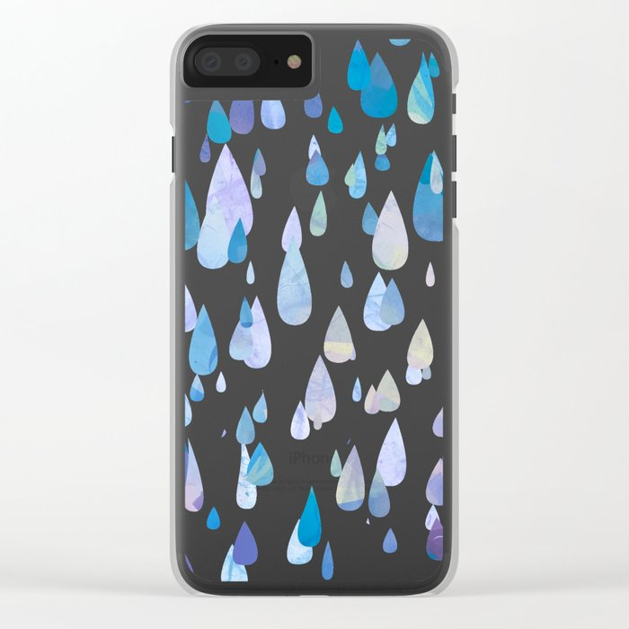I Smile When It's Raining Clear iPhone Case