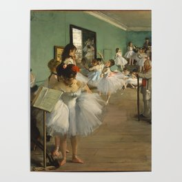 The Dance Class, Degas Poster