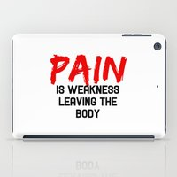 pain iPad Cases featuring Pain by Spooky Dooky