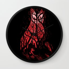 Mister Poe's Guilt Trip Wall Clock