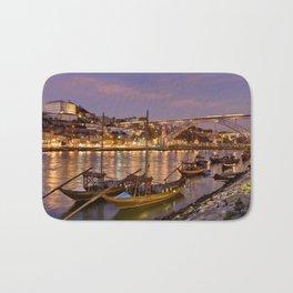 Porto at dusk Bath Mat
