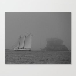 Island in the Fog Canvas Print