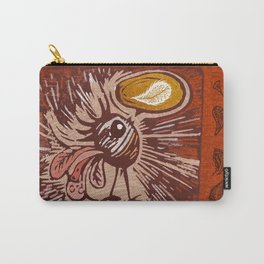 Chickie Block Print Carry-All Pouch