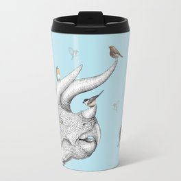 Triceratops and Birdies Travel Mug