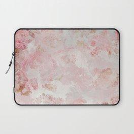 Vintage Floral Rose Roses painterly pattern in pink Laptop Sleeve