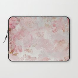 Vintage Floral Rose Roses painterly pattern in pink Laptop Sleeve