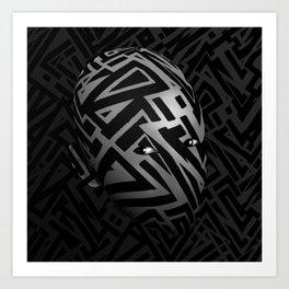 Crystallized Insomnia Head Art Print