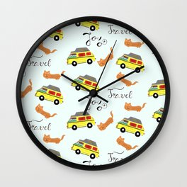 Travel is joy - Pattern Wall Clock