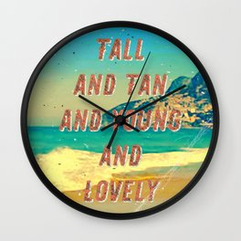 Girl from Ipanema #1 - A Hell Songbook Edition Wall Clock