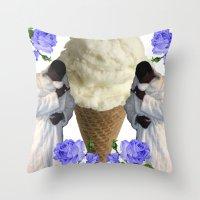 gucci Throw Pillows featuring Gucci Daddy  by Gabbi GOON