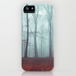 Forest Magic - Foggy Forest Scene iPhone Case