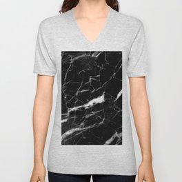 modern chic minimalist abstract black marble Unisex V-Neck