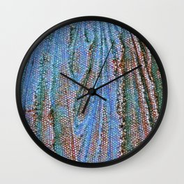 Caryatid in Blue Two Wall Clock