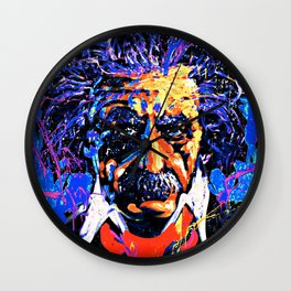 Einstein In Thought Wall Clock