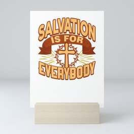 Saved by God, Christians Soteriology, Doctrine of Salvation T-Shirt Mini Art Print
