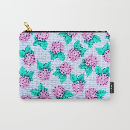 Floral Devotion Pink Flowers Design Carry-All Pouch