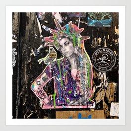 Rehab Amy Graffiti in New York City Art Print