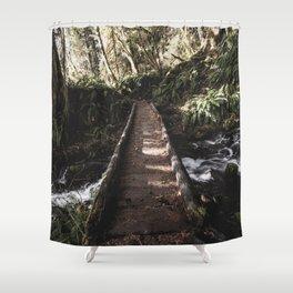 Hoh Rainforest River Trail Shower Curtain