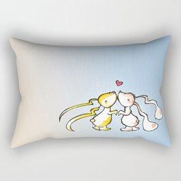 Kissing Bunnies Rectangular Pillow