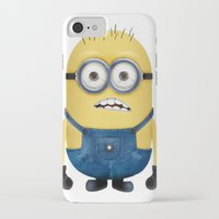 minion iPhone & iPod Cases featuring Minion  by Lyre Aloise