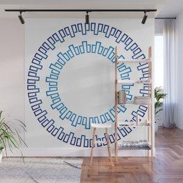 Runa in shades of blueRuna in shades of blue Wall Mural