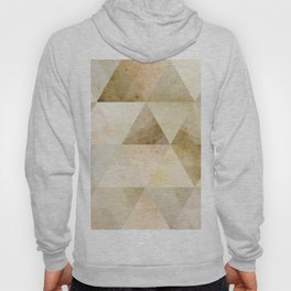 Abstract triangle shaped background, vintage yellow aged paper texture, retro geometric illustration Hoody