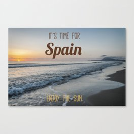 Time for spain Canvas Print