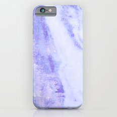 Blue Marble - Shimmery Sky Blue Indigo Marble Metallic Slim Case iPhone 6s