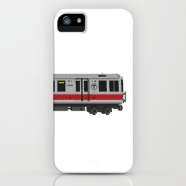 Boston Red Line Subway Train iPhone Case