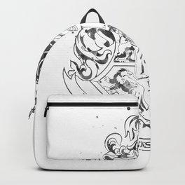 Hogwarts Crest Black and White Backpack