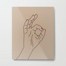 Okay Hand Sign Metal Print