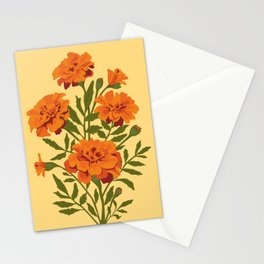Marigold Flowers Stationery Cards